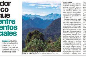 Producto turístico unificado, que permite conocer la región interandina del país, al cual se denominó: Corredor Turístico 'Camino de los Andes'