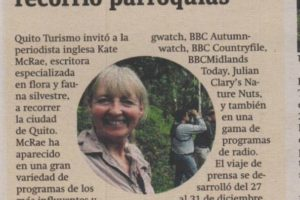 Periodista inglesa recorrió parroquias